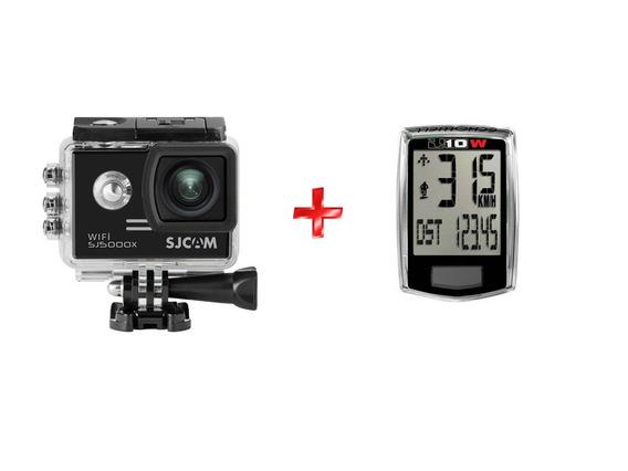 Câmera Sjcam Sj5000x Elite Wifi 4k + Velocímetro S/ Fio U10w