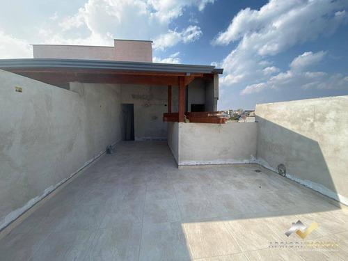 Cobertura Com 2 Dormitórios À Venda, 106 M² Por R$ 304.000 - Vila Linda - Santo André/sp - Co0397