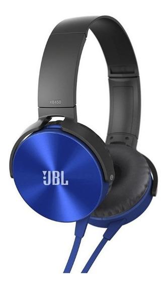 Fone De Ouvido Headphone Jbl Xb-450 Extra Bass Azul