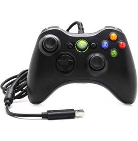 Controle Xbox 360 Pc Com Fio P/ Slim E Super Slim Cabo 2mts