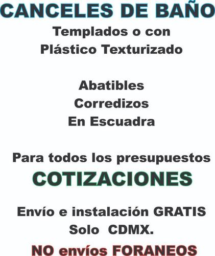 Imagen 1 de 9 de Cancel De Baño Templado O Plástico - Cotizaciones