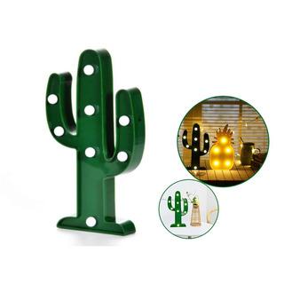 Cartel Luminoso C/forma Luz Led Lampara Velador Deco Cactus