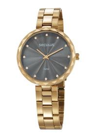Relógio Feminino Seculus 77039lpskds1 Promoção Dia Dos Pais
