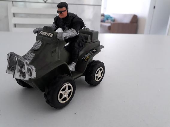 Miniatura Carrinho Moto Quadriciclo Militar Plástico Coleção