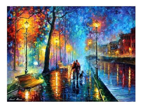 Imagem 1 de 1 de Poster Decorativo 50x70cm Afremov - Melody Of The Night