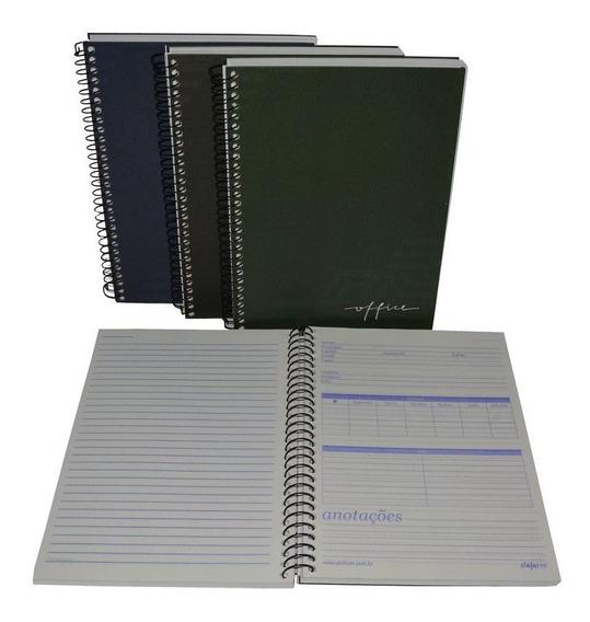 1 Caderno Universitário Capa Dura 200 Folhas 10 Matérias