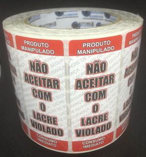 Etiquetas Lacre De Segurança Alimentos - 1000 Pçs
