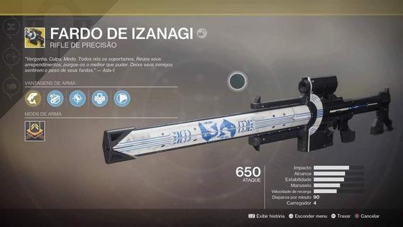 Fardo De Izanagi Quest Completa- Destiny 2