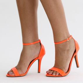85d623d995 Sandalias Salto Alto Vizzano Laranja E Preto - Sapatos no Mercado ...