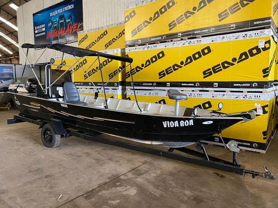 Barco Aluminio Maresias Wave 600 C/ Evinrude 50hp Ano 2013