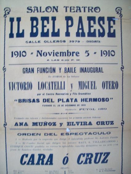 Antigua Publicidad Teatro Año 1910