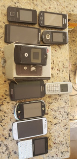 Lote Celular Antigo Coleção Nokia Motorola Samsung