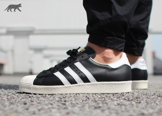 Tenis adidas-superstar-80s-black-white-en Su Caja Originals
