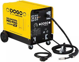 Soldadora Dogo Monofasica Mig Mag 150amp Alambre 0,6 A 0,9mm