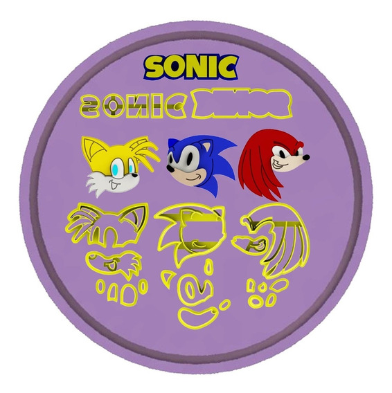 Mega Kit De Cortadores Sonic + Logo
