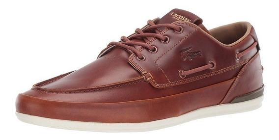Tenis Zapatos Lacoste Marina Sneaker Cuero Originales