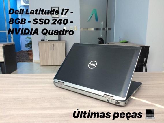 Notebook Dell Latitude Core I7 - 8gb - Ssd 240 - Nvidia