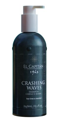 Shampoo Masc Cabelo/barba Crashing Waves 240ml El Capitán