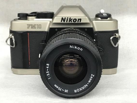 Câmera Nikon Fm 10 C/lente 35~70mm(analógica).