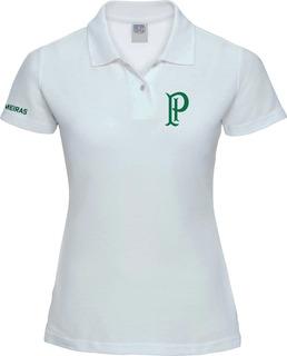 Camisa Feminina Palmeiras Polo Pi Torcedor Nação Alviverde