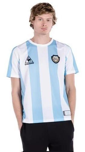 Camiseta Le Coq Sportif Argentina 86 Maradona Bl/ce 20337l94