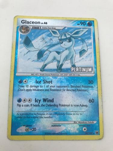 Cartas Pokémon - Glaceon Platinium - Sylveon - Marowak Turbo
