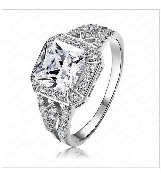 Anel Solitário Diamond Bronze Banhado Prata925 Zircônia 11mm
