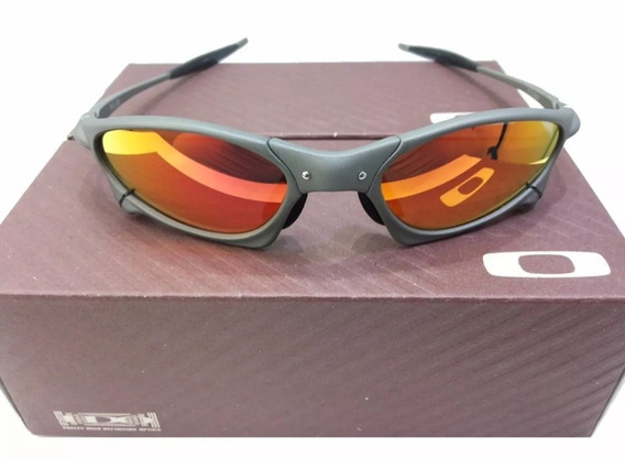 Oculos Oakley Juliet Penny Vermelha Metal Polarizado Oferta
