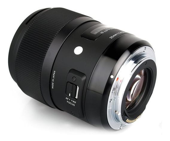 Lente De Arte Sigma Dg 35mm F / 1.4 Hsm Para Canon
