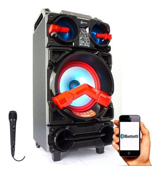 Caixa De Som Amplificada Bluetooth 500w Lenoxx Ca-390 Mic