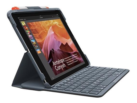 Capa Com Teclado Logitech Bluetooth Para iPad 5 E 6 Geração