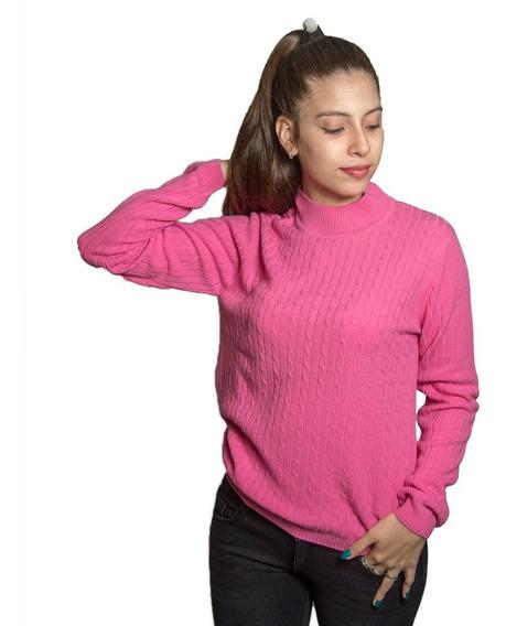 Sweater Dama Burma Rosa Cuello Alto Swe-d-15 - Tienda Chaia