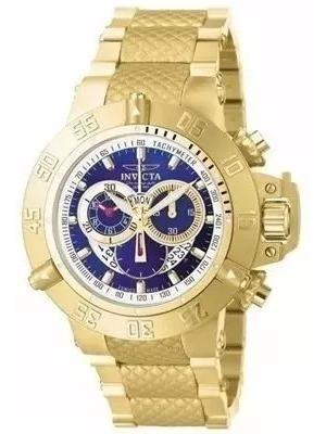 Relógio Jjl8614 Invicta 5404 Subaqua Gold Com Caixa E Manual