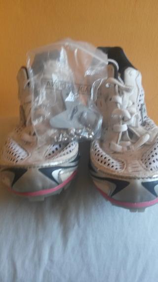Zapatillas Con Puas Para Dama Marca Saucony Talla 36, 50 $