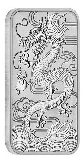 Robmar-lingote Australia Dragon Plata-pura 0,9999 1 Onza