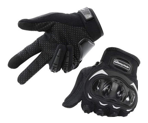 Imagen 1 de 6 de Guantes Moto Deportivo Con Proteccion Nudillos Negro