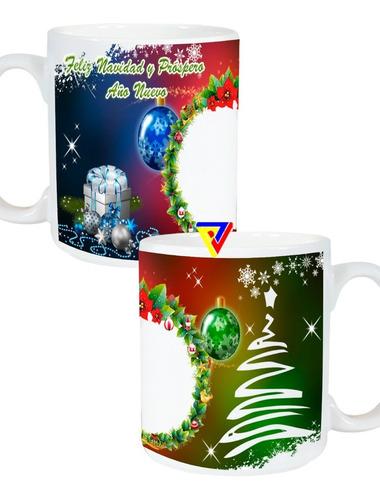 Tazas Navidad Y Año Nuevo Personalizada Full Color Parte 1