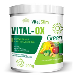 Vital Ox Slim Green Pó Solúvel Composto Detox
