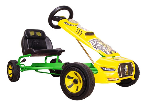 Carrito De Pedales Go Kart Montable Mustang