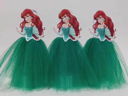 10 Tubetes Lembrancinha Ariel- Pequena Sereia