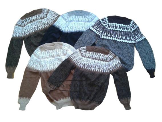 Sweater Pullover Lana Alpaca Llama Talles Xl. Artesanal