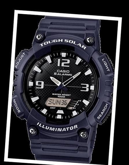 Relógio Esportivo Casio Aq- S810w Tough Solar 5 Alarmes