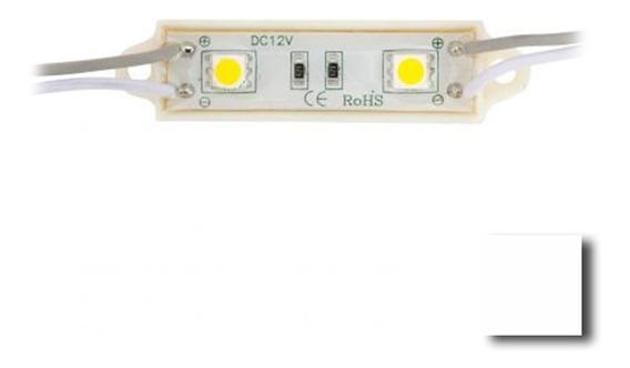 Modulo 2 Leds 5050 12v Exterior A/brillo V/colores X 10 Unid