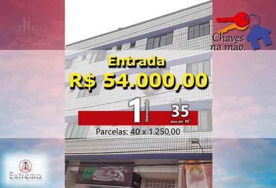 Kitnet Com 1 Dormitório À Venda, 35 M² Por R$ 100.000 - Boqueirão - Praia Grande/sp - Kn0130