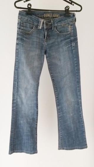 Calça Jeans Azul Feminina Tamanho 14 Ou 36, Importada