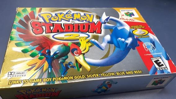 Pokemon Stadium 2 Nintendo 64 Na Caixa Original Para Coleção