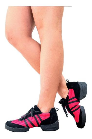 Zapatillas De Danza Baile Con Aire Con Suela Repartida