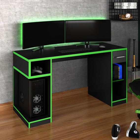 Mesa Gamer Idl Xp 1000 Pro 1 Gaveta Black/laranja