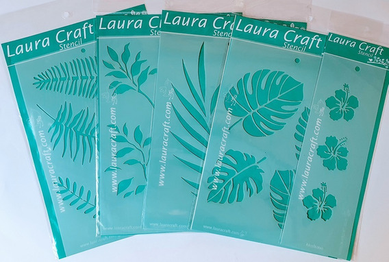 Stencil Laura Craft Set Botanico