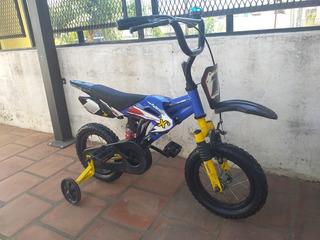 Bicicleta X Terra Motobike Rodado 12 Con Suspensión Lista !